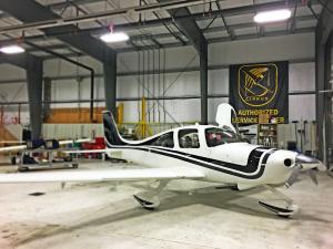 SR-22 in Pro Aircraft Maintenance Hangar