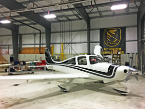 SR-22 in Pro Aircraft Maintenance Hangar