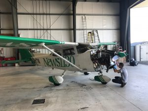 Servicing NEWS 1130 Airplane