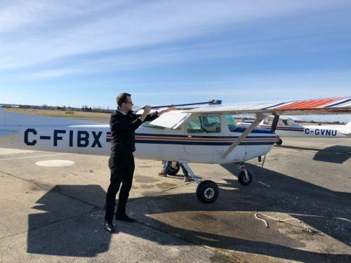 Cessna 152 C-FIBX Deicing